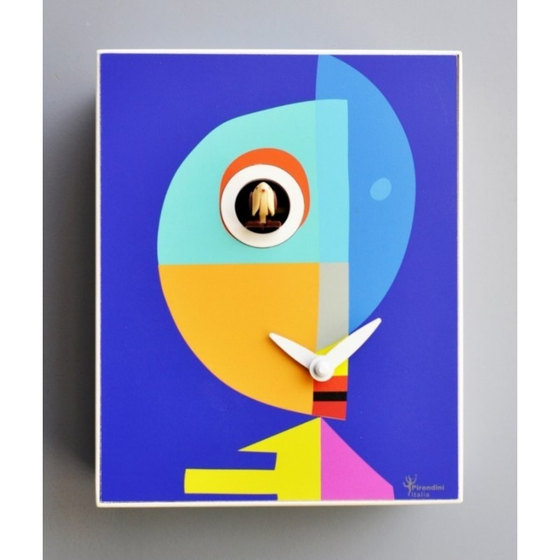 CUCKOO KLEE COLLECTION D'APRES PIRONDINI - CLOCK PRINT ON WOOD