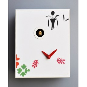 CUCKOO MATISSE COLLECTION D'APRES PIRONDINI - CLOCK PRINT ON WOOD