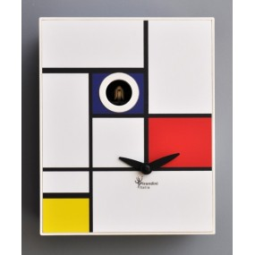CLOCK CUCKOO MONDRIAN COLLECTION D'APRES PIRONDINI