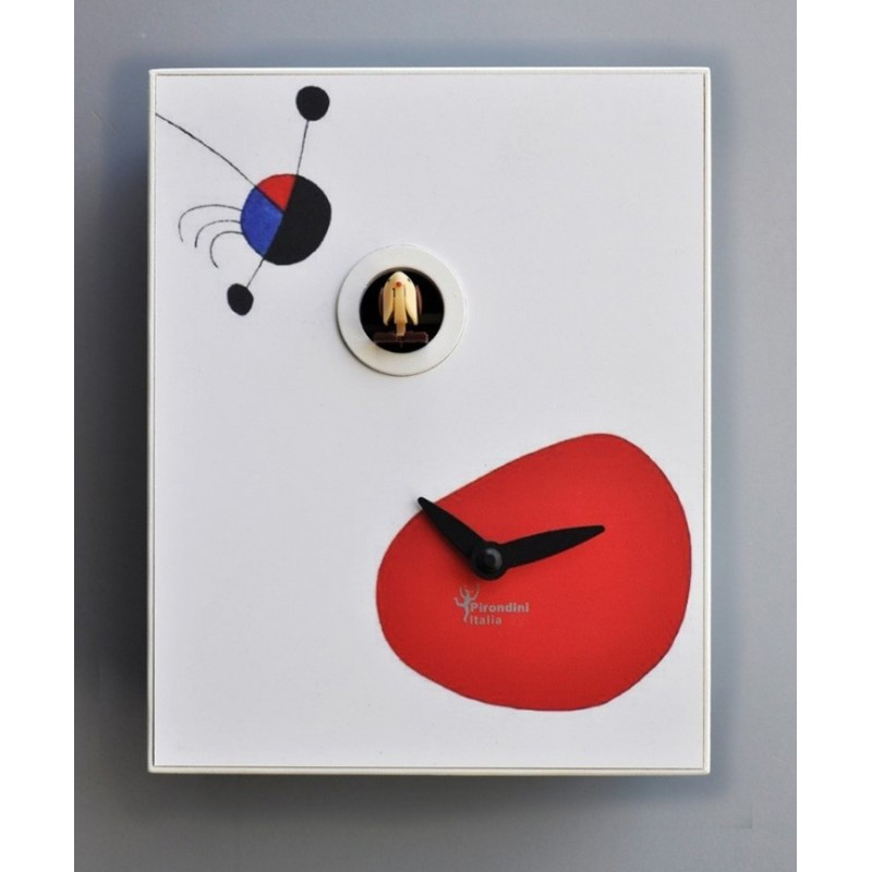 CUCKOO MIRÒ COLLECTION Of APRES PIRONDINI - CLOCK PRINT ON WOOD