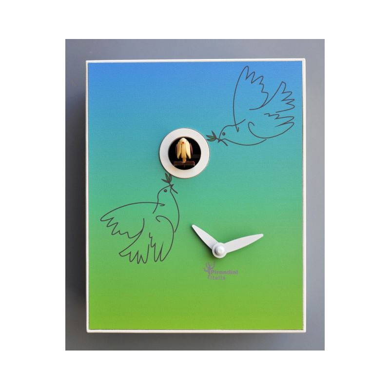 CUCKOO PICASSO COLLECTION D'APRES PIRONDINI - CLOCK PRINT ON WOOD