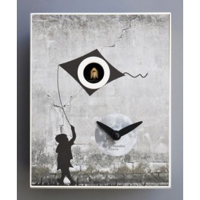 HORLOGE COUCOU BANKSY COLLECTION D'APRES PIRONDINI