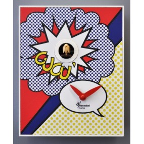 CUCKOO ROY LICHTENSTEIN COLLECTION D'APRES PIRONDINI - CLOCK PRINT ON WOOD