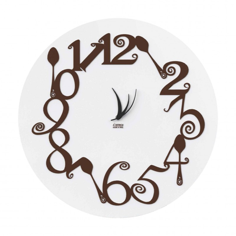 CLOCK WOOD WALL round DANCE OF the SPOONS COLLECTION - THE DETAILS