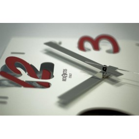DIGIT WALL CLOCK - WITH RED NUMBER