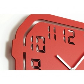 WALL CLOCK MODERN DIGITALCUT IN LACQUERED WOOD