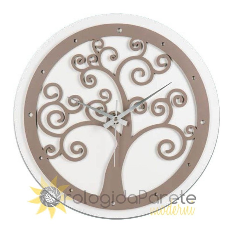 WALL CLOCK MODERN ROUND TREE OF LIFE