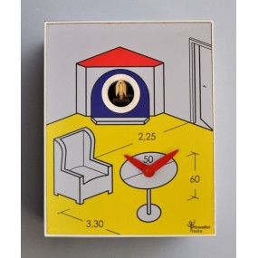 CUCKOO ARCHES COLLECTION D'APRES PIRONDINI - CLOCK PRINT ON WOOD