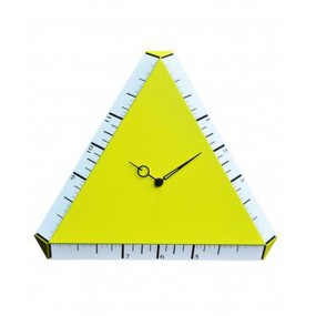 CLOCK LACQUERED WOOD YELLOW PITAGOARA FOR THE WALL-COLLECTION ONLY