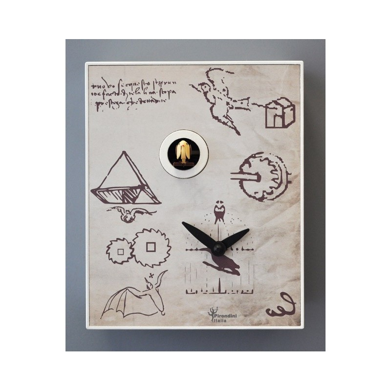 CUCKOO LEO COLLECTION D'APRES PIRONDINI - CLOCK PRINT ON WOOD