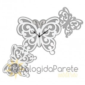 design wall clock with butterflies, butterfly clock, bongelli
