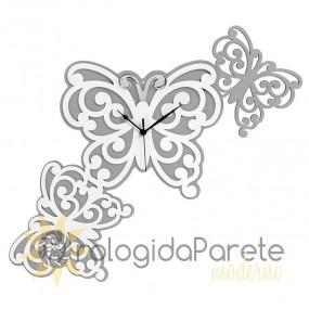 particolare orologio da parete con farfalle, per camera da letto, memory bongelli