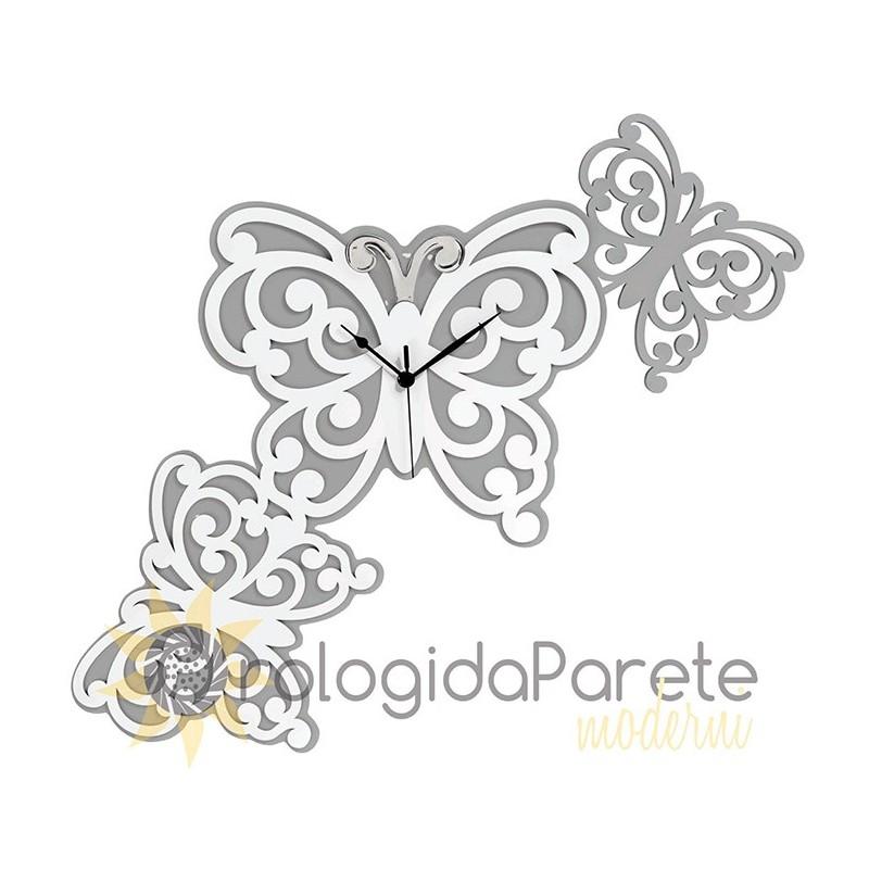 OROLOGIO DA PARETE  FARFALLE BUTTERFLY