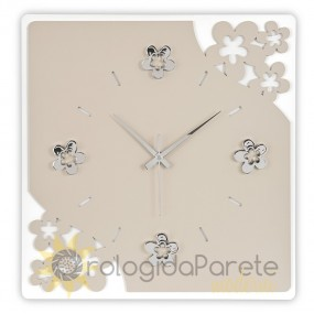 square wall clocks with flowers