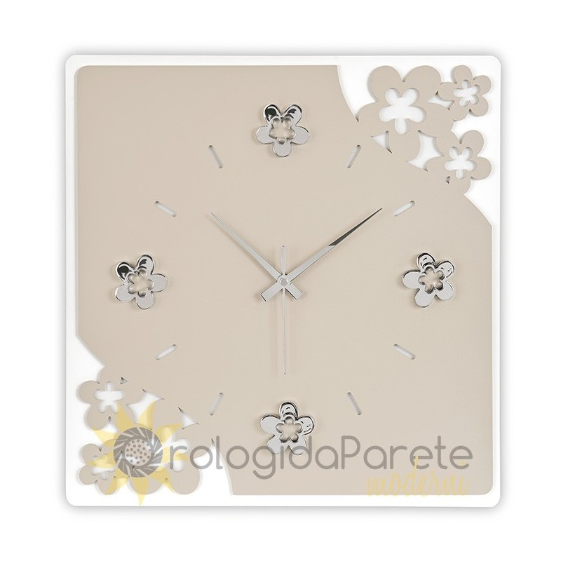 WALL CLOCK FLOWERS