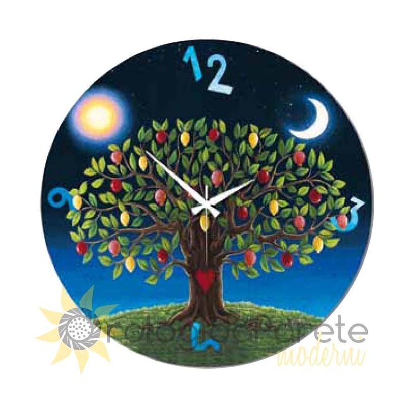 Horloge de mur, arbre de vie de la collection de shan