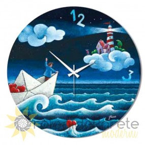 decorative painted wall clocks, round wall clocks, for childrens, shan collection