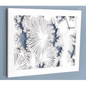 orologio da parete moderno bianco i dettagli sdlaser