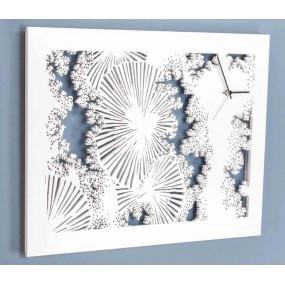 horloge murale moderne blanc pour plus de détails sdlaser