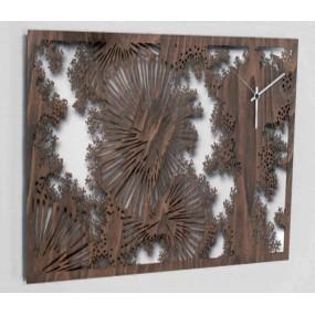 wall clock modern wenge wood details sdlaser