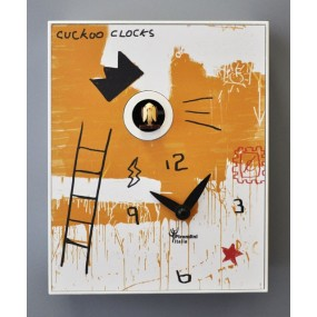cuckoo clock basquiat in mdf, pirondini collections