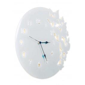 orologio rotondo in plexiglass colorato