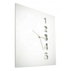 square clock in coloured plexiglas