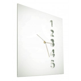 square clock in coloured plexiglas