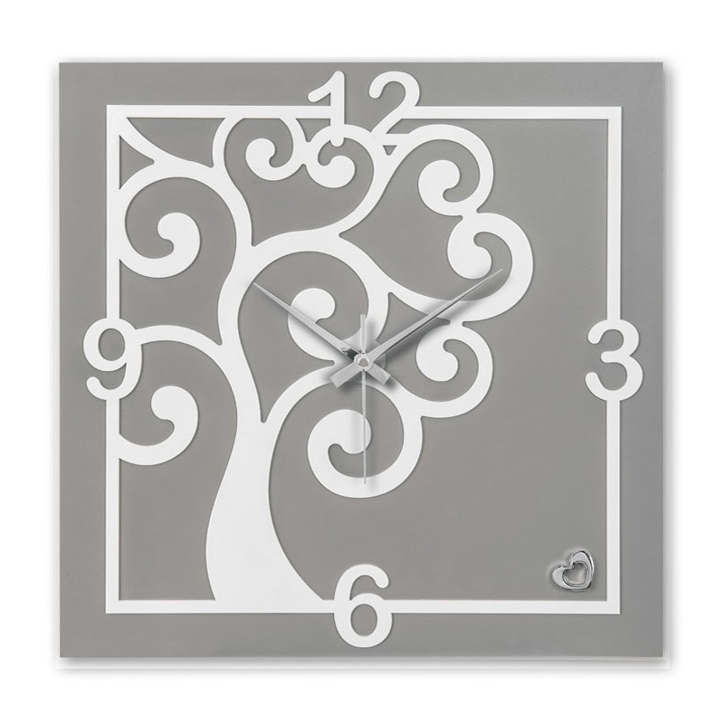 SQUARE CLOCK MODERN TREE OF LIFE