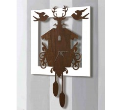 clock faux pendulum wooden wall