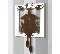 orologio finto pendolo in legno per parete