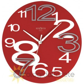 wall clock red young rexartis