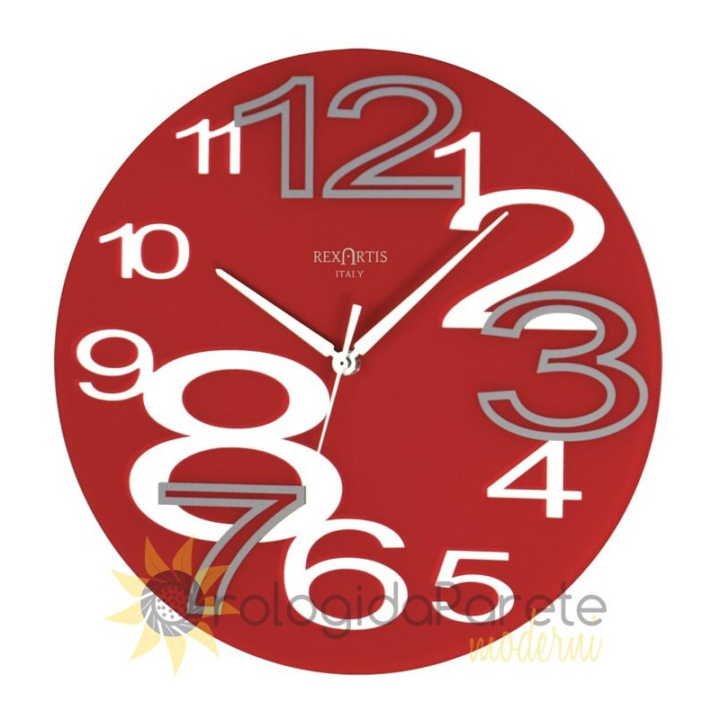WALL CLOCK YOUNG RED