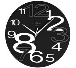 horloge murale ronde jeune noir rexartis, noir horloges murales
