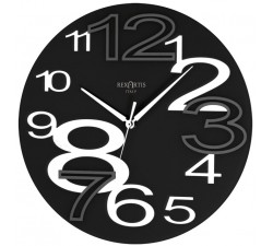 wall clock round young black rexartis, black wall clocks