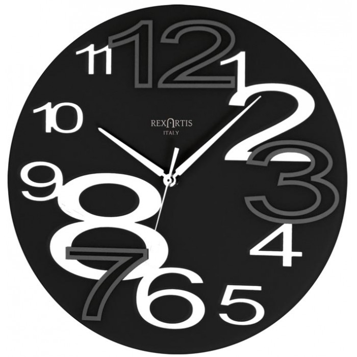 WALL CLOCK YOUNG BLACK