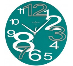 wall clock round young acquamare, wall clock, aquamarine