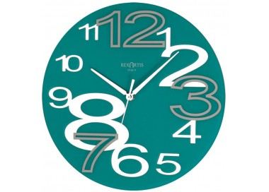 wall clock round young acquamare, wall clock, aquamarine