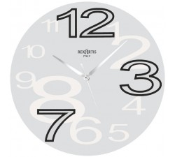 WALL CLOCK YOUNG WHITE