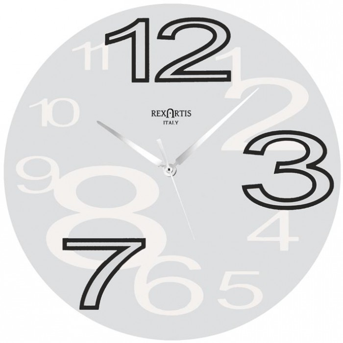 wall clock round young white rexartis, white wall clock