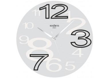 horloge murale ronde jeune blanc rexartis, blanc horloge murale