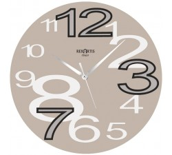 wall clock young rexartis-dove, clear, light taupe wall clocks