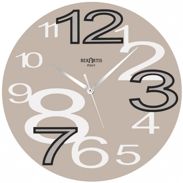 WALL CLOCK YOUNG TORTORA CHIARO