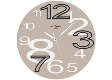 horloge murale jeunes rexartis-colombe, clair ou taupe horloges murales