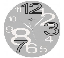 wall clock rexartis young silver, wall clocks grey
