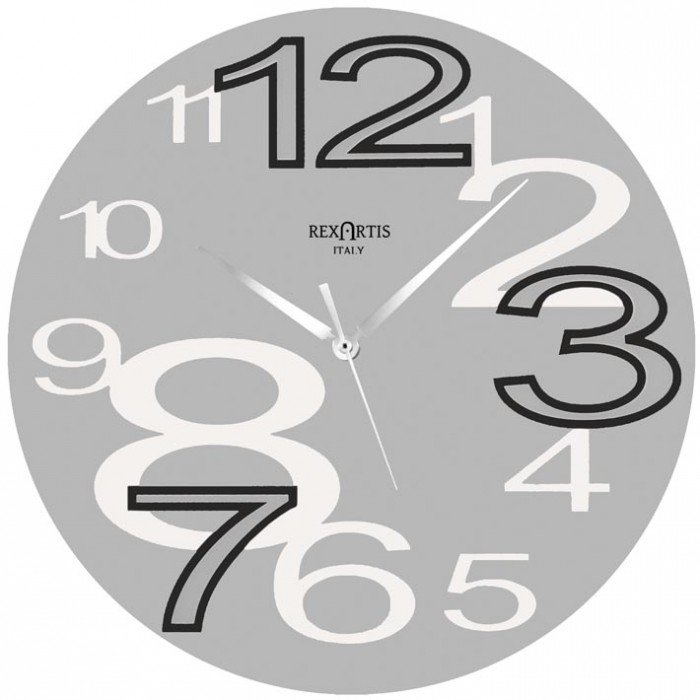 WALL CLOCK YOUNG GREY