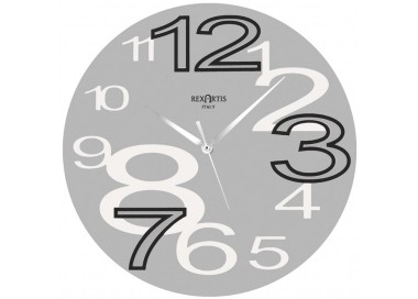 grey wall clocks, rexartis young silver