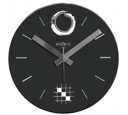 black wall clock, desy 2.0 rexartis