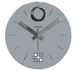 wall clock grey desy rexartis