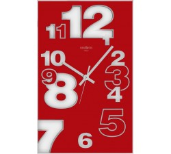 vertical red wall clock rexartis dirk